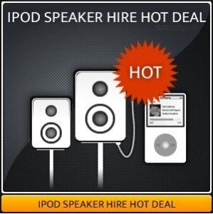 IPOD SPEAKER HIRE