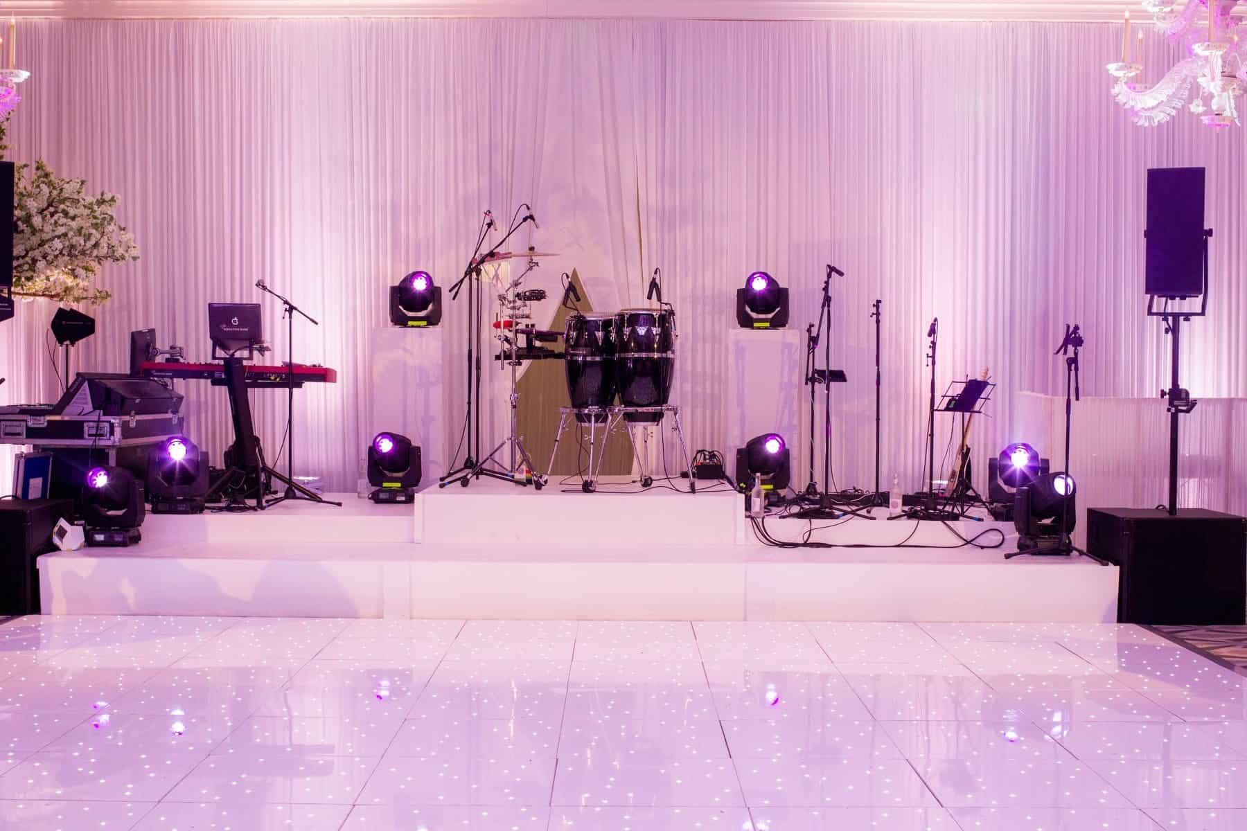 White LED Dance Floor With Lighting