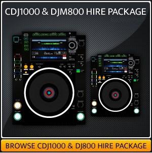 Hire a DJM800 & CDJ1000 Setup