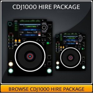 CDJ1000 Hire package