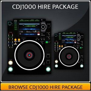 CDJ1000 Hire package
