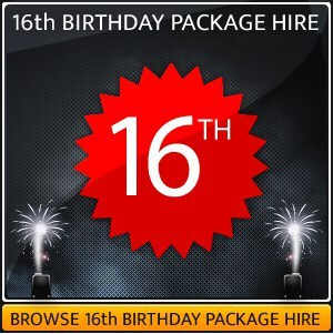 Party Lighting Hire Package For 16th Birthday Party