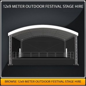 12 meter x 10 meter Outdoor Covered Stage Hire