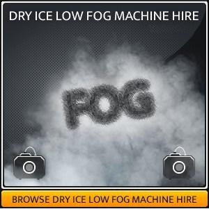 Dry Ice Low Fog Machine Hire