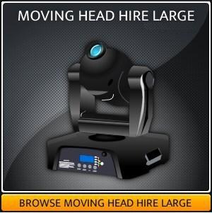 Moving head lighting equipment hire