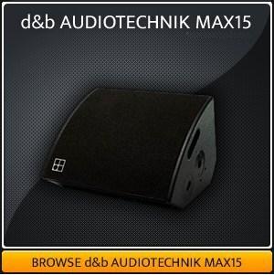 Max 15 Monitor Hire