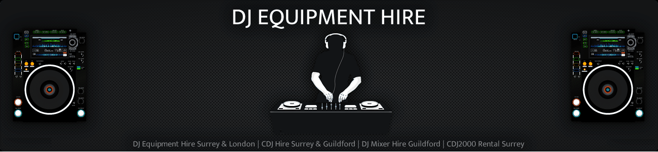 DJ Equipment Hire Section
