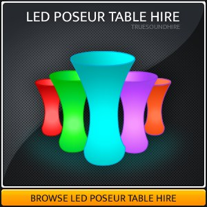 LED Poseur Table Hire Packages