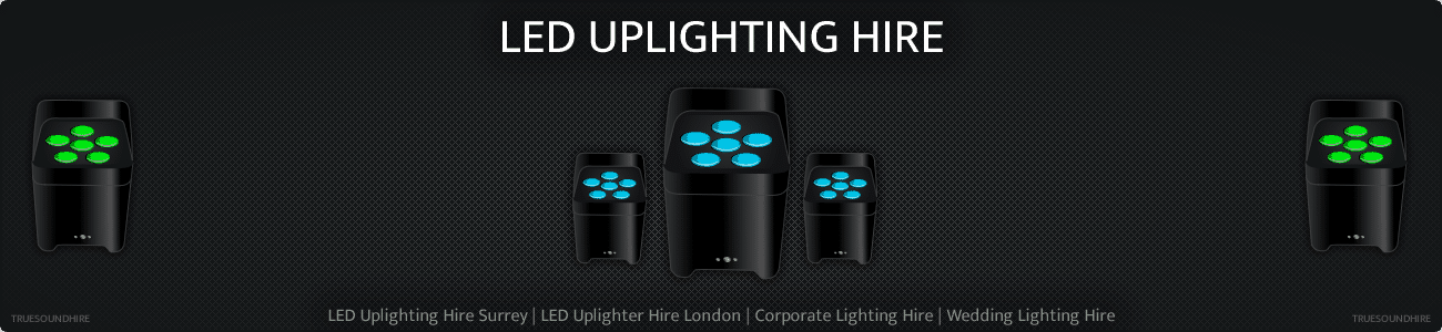 LED Uplighting Hire Surrey | LED Uplighter Hire London | Corporate Lighting Hire | Wedding Lighting Hire