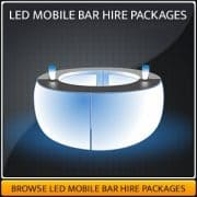 Round LED Mobile Bar Hire
