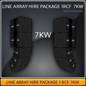 Line Array Hire Package 1 RCF 7KW