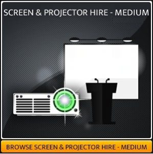 Projector & Screen Hire package