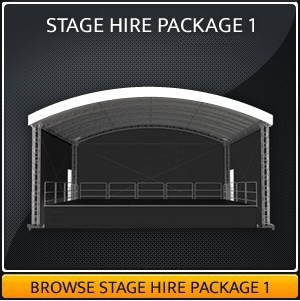 Outdoor Covered Stage Hire Package