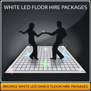 White LED Starlit Dance Floor Hire Package